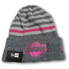 new product 5e87d 5d1c1 LA Lakers Pink Stripped Folded Beanie New With Tags One Size Fits Most