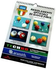 REGOLAMENTI UFFICIALI DI GIOCO FIBIS - 5/9 BIRILLI - POOL - CARAMBOLA - BOCCETTE