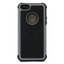 GRAY BLACK  Dual Layer Hybrid Protector Hard Case Cover for Apple iPhone 5 5S SE