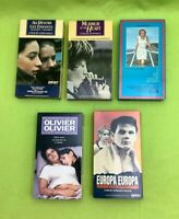 Lot Of French Speaking Films With English Subtitles (VHS Tapes)VG - 5 Pieces VG