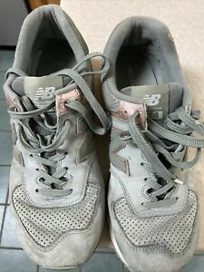 Used New Balance Women Classics Lace Up Sneaker WL574NBL pink teal 10US/8UK
