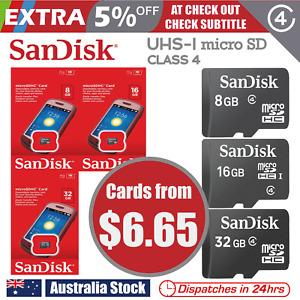 SanDisk micro SD 8 GB 16 GB 32 GB  SDHC Class 4 UHS-I Memory Card TF HD mobile