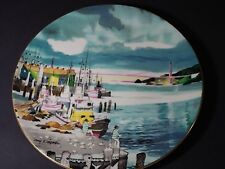 Dong Kingman Fisherman's Wharf collector plate by Royal Doulton