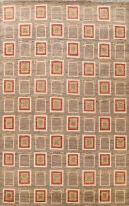 Modern Hand-knotted Gabbeh Kashkoli Oriental Area Rug Geometric Living Room 9x12