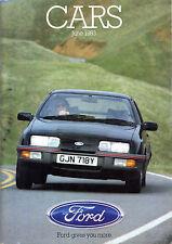 Ford Cars June 1983 UK Market Sales Brochure Fiesta Escort Sierra Capri Granada