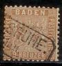 Altdeutschland Baden 1862-63, Freimarke Wappen, Mi. # 15 b, gestempelt