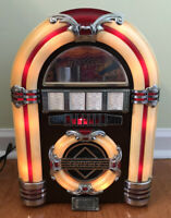 Crosley CR-11 Collectors Ed. Lighted AM/FM Radio Cassette Faux Jukebox WORKS