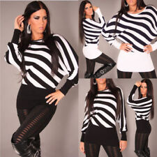 Gestreifte Damen-Pullover & -Strickware aus Viskose in Langgröße