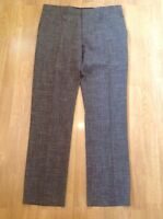 RIVER ISLAND MENS TAILORED BROWN TROUSERS UK SIZE 36R SLIM FIT BNWT RRP £40