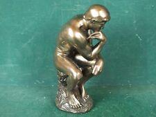 Figur Skulptur Der Denker in Bronze Optik