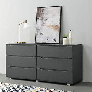 Sideboard Konsole Kommode Schubladenschrank Wandschrank Wohnzimmerschrank Grau