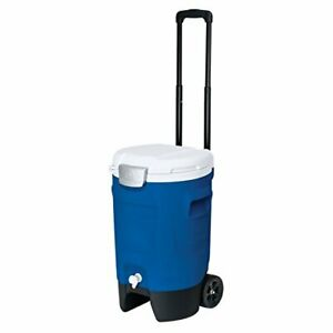 Igloo 5 Gallon Wheeled Portable Sports Cooler Water Beverage Dispenser with F...