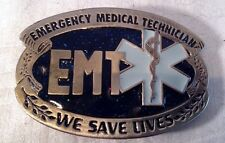 EMT Emergency Medical Technician Star of Life Rod Asclepius New Belt Buckle bb