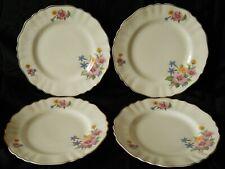 "4 x Vintage J & G Meakin Rose Mallow 8"" Salad Plates ~ Sol [Rd.Dn. 391413]"
