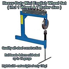 Brand New Heavy Duty Mini English Wheel Kit (With 1 Wheel & 7 Roller Dies)
