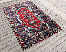 Turkish Rug 45''x68'&# 039; Vintage Antalya Wool Carpet 115x174cm Ethnic Area Rug
