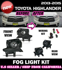 14 15 16 TOYOTA HIGHLANDER Fog Light Driving Lamp Kit w/switch wiring (CLEAR)
