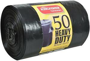 Black Bin Bags Refuse Sack Heavy Duty 60L