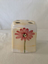 Croscill GAZEBO BOTANICA Toothbrush Holder Hand Painted Floral