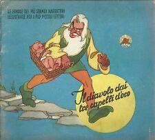 Grimm - Il diavolo dai tre capelli doro  - Collana Rosa d'Oro Conte anni '50