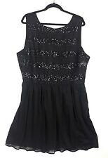BB Dakota Women's Size 18 Black Sleeveless Dressy Cocktail Dress Sequin Top NEW