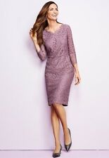 NWT TALBOTS WOMENS FULL LACE PAISLEY LINED HOLIDAY SHIFT DRESS SIZE 10P ($200)
