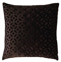 """16"""" Brown Velvet Cushion Pillow Cover Sofa Couch Throw Indian Ethnic Decorative"""