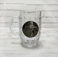 Stark wolf logo beer half pint glass  with metal logo-1pcs
