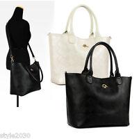 NEW Women Ladies Shoulder Bag Hobo Tote Satchel Cross Body Mesh Leather HandBag