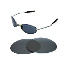 NEW POLARIZED BLACK REPLACEMENT LENS FOR OAKLEY E-WIRE 1.0 SUNGLASSES