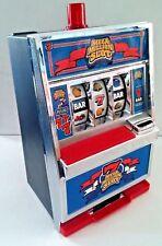 """TESTED~Vintage ~Radica """"Mega Million"""" Slot Machine Bank - Bells And Lights!"""