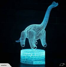 Dinosaur 3D Optical Illusion Colour Changing LED Lamp New