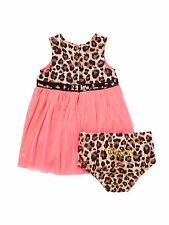 JUICY COUTURE Leopard Cotton Printed Dress and Bloomers Set $45 MSRP Size 24 M