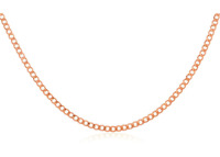 10K Gold 2.0mm Cuban/Curb Link Chain Necklace Yellow, White or rose