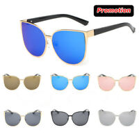 Retro Women Cat Eye Sunglasses Vintage Shades Oversized Designer Glasses Eyewear