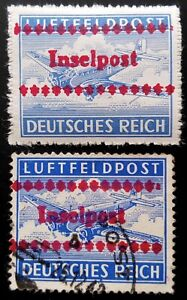 GERMANY III REICH WWII, USED/MNH  INSELPOST STAMPS