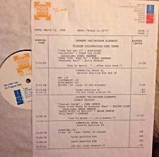 RADIO SHOW: 3/11/88  TODAY IN 1970 BOBBY SHERMAN, JOHN LENNON, CCR, TEE SET