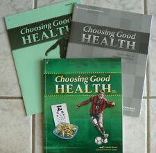 ABeka gr.6/6th Choosing Good Health,3rd Ed. CURRENT text,answer key & test key