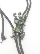 Native American Sancrest Bolo Tie with Turquoise -  Great Pin!