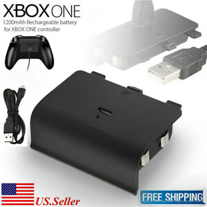 Rechargeable Battery Pack For Xbox One S Wireless Controller + USB Cable 1200mAh
