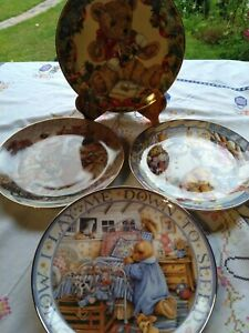 Franklin Mint Teddy collector plates