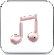 Rose Gold Earphones For iPhone Android Universal Headphones Handsfree Mic