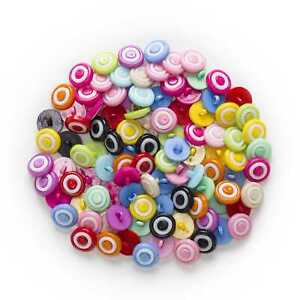 50pcs Shank Round Nylon Buttons for Sewing Scrapbooking Cloth Home Decor 14mm