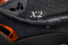 BLUE STITCHING FITS MERCEDES CLK W209 C209 02-09 2X DOOR HANDLE LEATHER COVERS