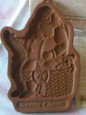 Longaberger Pottery Cookie Mold, Santa Claus, Christmas 1992