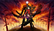 Anime Girl and Guy on Battlefield Custom Playmat / Game Mat / Mat #79