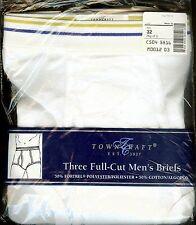 VINTAGE 3 in Pkg. JCPenney TOWNCRAFT Full Cut Men's Briefs Underwear Size 32 NWT