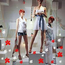 adesivi vetrine fiori margherite vetrofanie saldi negozio stickers estate