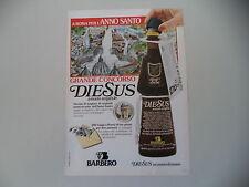 advertising Pubblicità 1983 AMARO DIESUS BARBERO