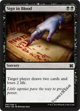 4 Sign in Blood ~ Black Modern Masters 2015 Mtg Magic Common 4x x4